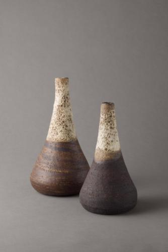 bottles with lava glaze