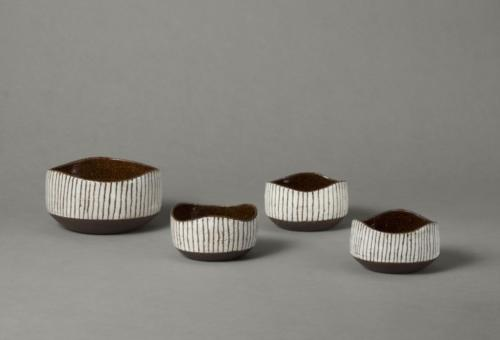 black & white stripy bowls