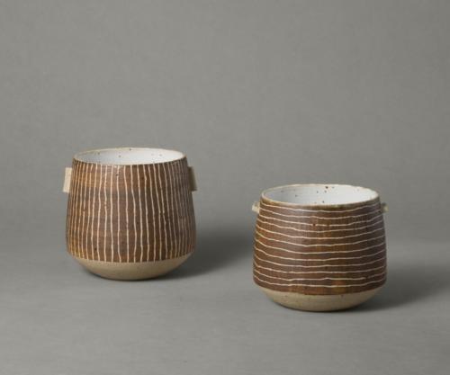 brown stripy vessels