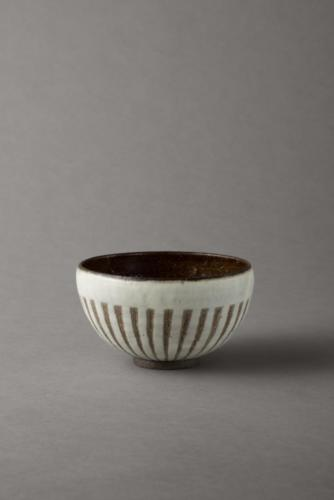 black and white stripy bowl