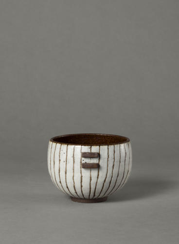 black & white stripy bowl