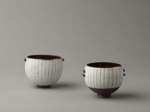 black and white stripy bowls