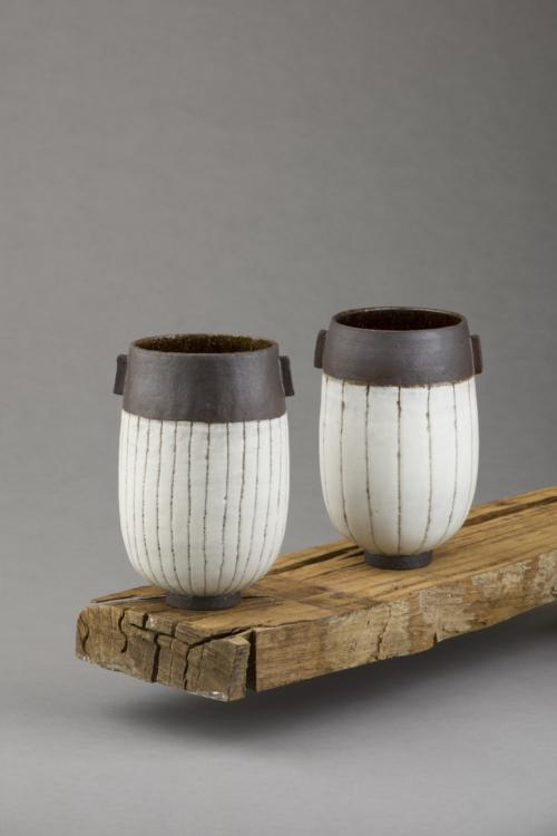 black and white stripy vessels