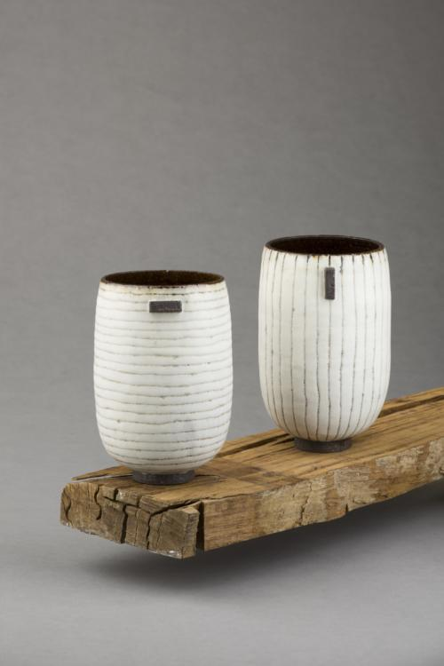 Black & White stripy vessels