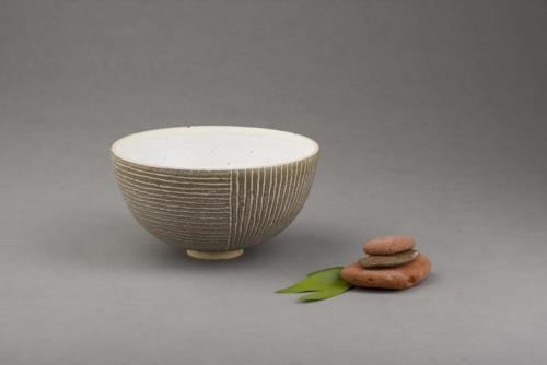 Brown stripy bowl